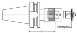 หัวจับต๊าป ด้าม BT50 สำหรับต๊าปคลอเล็ทแบบสวมเร็ว_dw